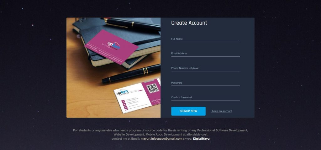 Image representing UI of Creative Login Form