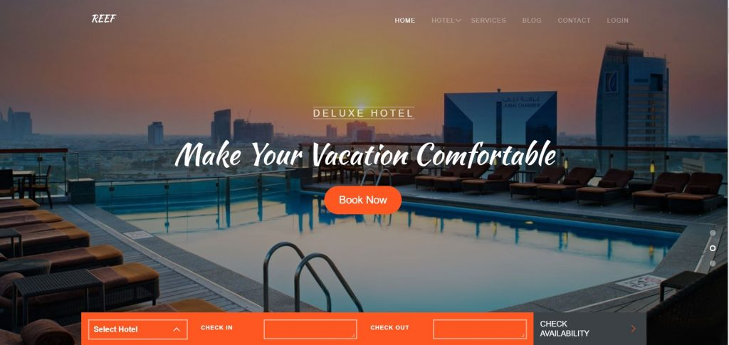 Image representing UI of Hotel Website