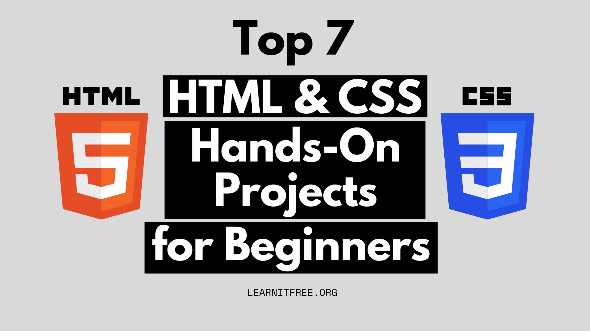 Featured Image for Top 7 Hands-on HTML CSS projects for beginners to practice
